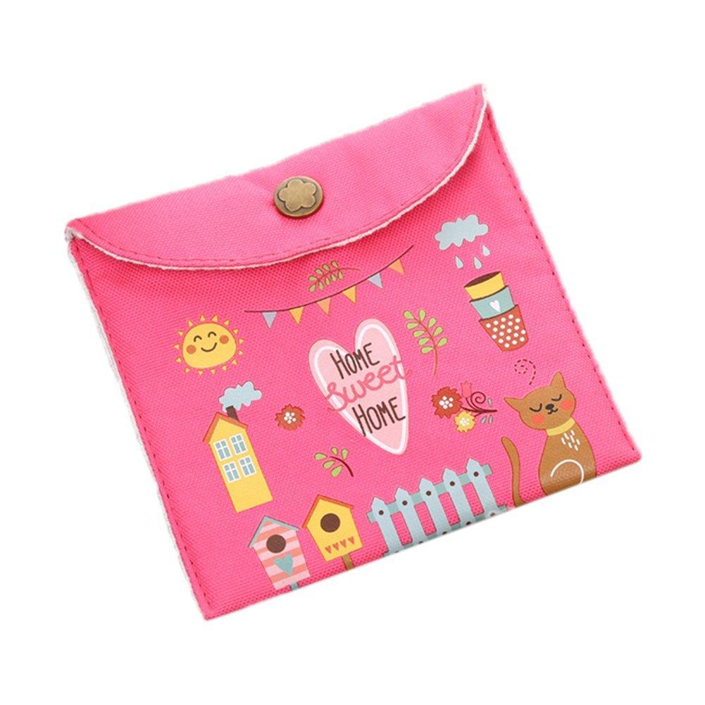 nikgic servilletas sanitarias bolsa Monedero Cambio Cartera sanitarias Pad comodidad bolsa tarjeta clave moneda bolsa 13x13cm azul
