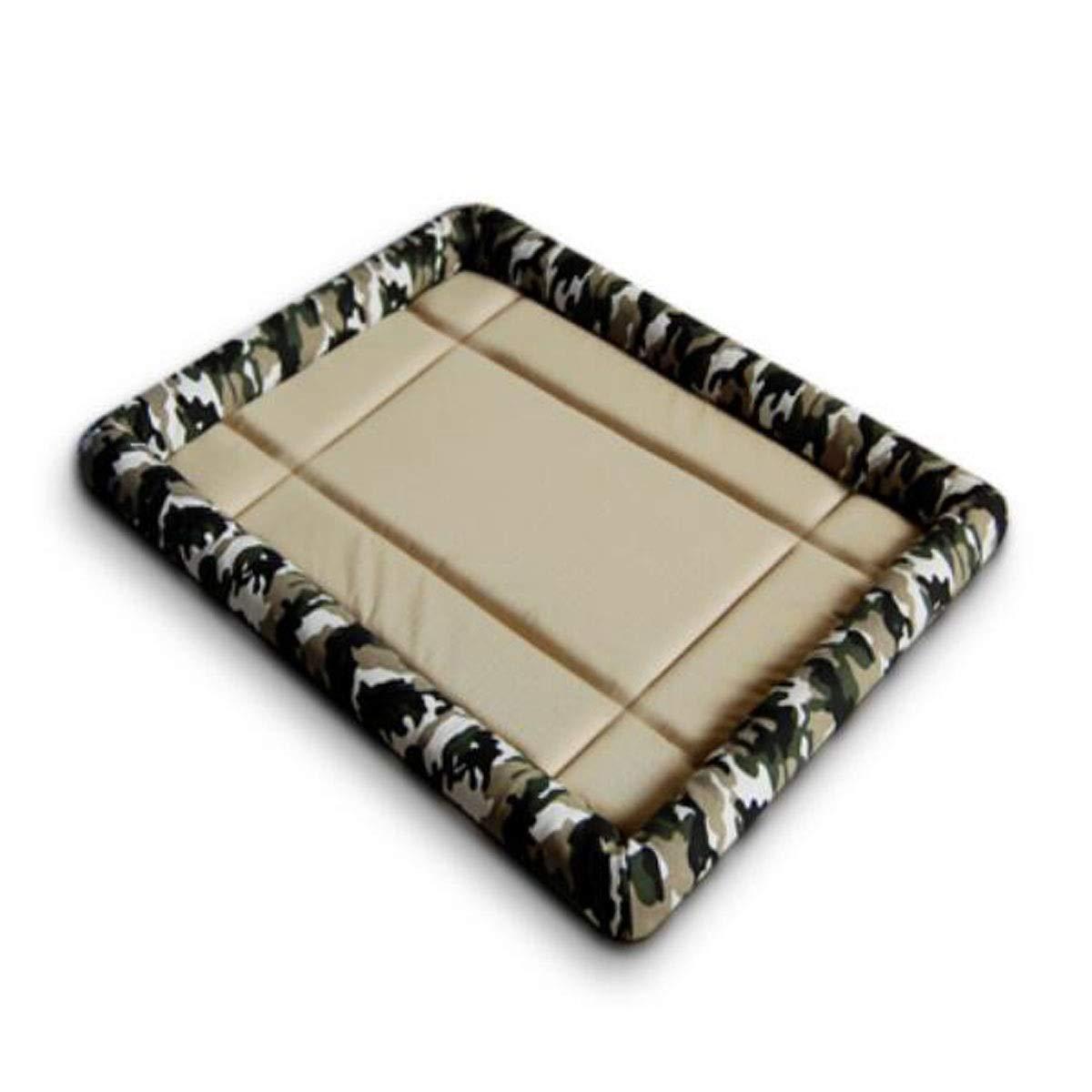 Brown SJiansheng Dog Bed, Dog Mattress, Large And Medium Pet Waterproof Sleeping Mat, Dog Cage Sofa Floor Car Sleeping Mat Foldable, bluee XL (color   Black, Size   S)
