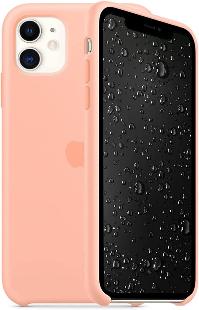 Awolf Case Compatible for iPhone 11, Liquid Silicone Case Non-Slip and Drop-Proof Simple Style Compatible with iPhone 11 6.1 inch (Grapefruit)