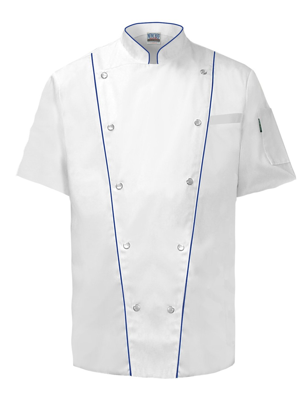 Newchef Fashion Executive White Chef Coat Male Short Sleeves 2XL White by Newchef Fashion