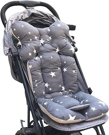 Grau Baby Sitzauflage Baby im Auto Kinderwagen Sitzauflagen f/ür Kinderwagen,Universal Kinderwagen Sitzkissen Baby Sitzauflage Baumwolle Autokindersitz