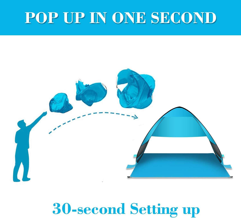 Houmagic Pop Up Beach Tent Camping Sun Shelter Canopy For