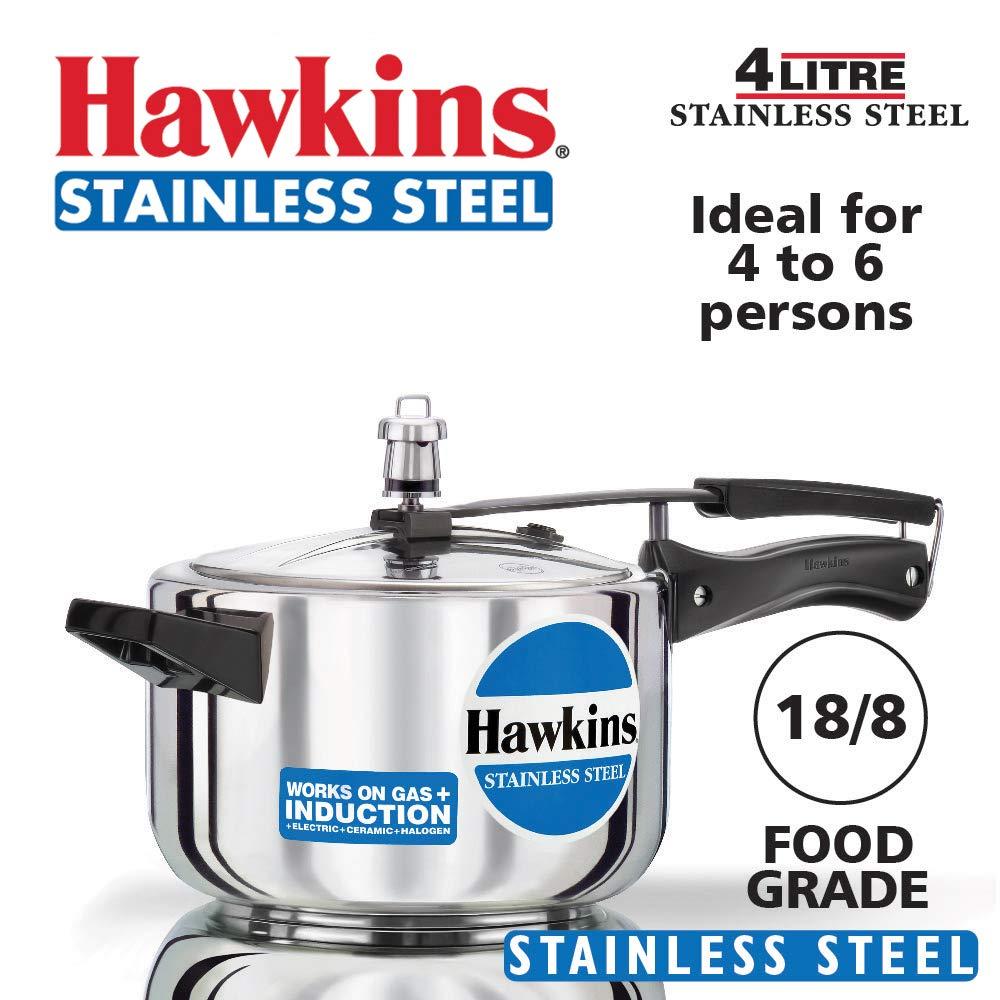 Hawkins Stainless Steel Pressure Cooker 4.0 Litre