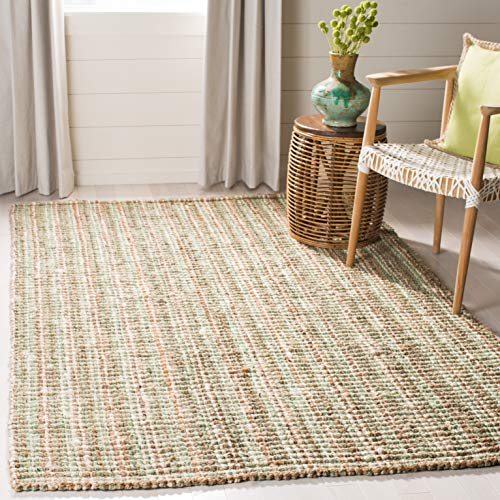 Safavieh Natural Fiber Collection NF447S Hand Woven Sage and Natural Jute Area Rug 3#039 x 5#039