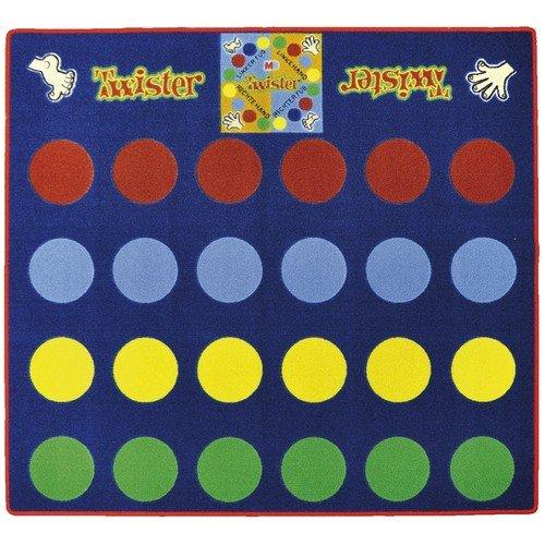 Eduplay Spielteppich Twister ca. 145 x 133 x 0,5cm, inklusive Zeiger 110139