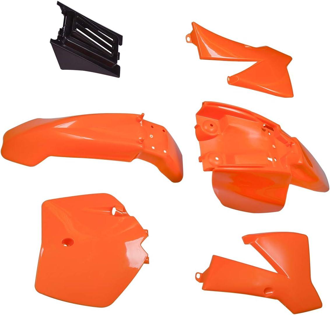 Kit de garde-boue en plastique Remplacement pour KTM50 KTM50SX MT50 MTK50 Mini Adventure 2002-2008 KTM 50 SX Junior 50cc Orange