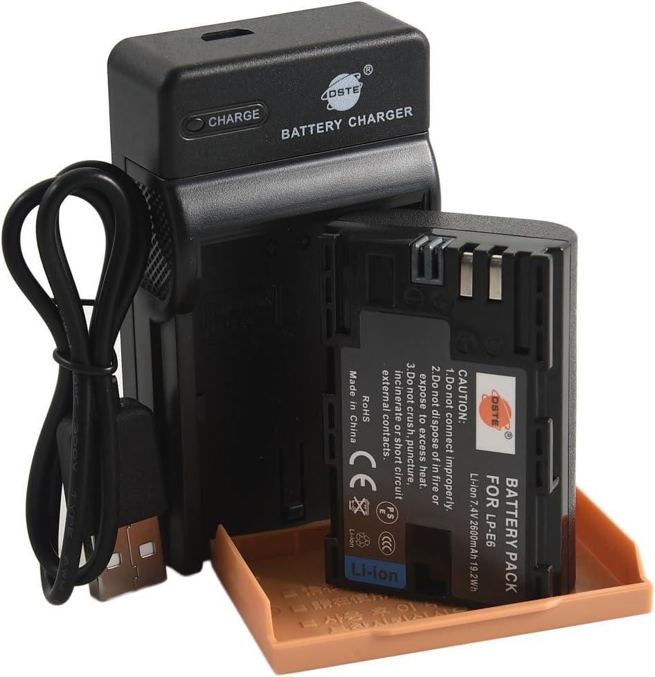 DSTE LP-E6 Li-ion Batería Traje y cargador micro USB para Canon EOS 5D Mark II III 5DS 5DS R 6D 7D 60D 60Da 70D 7D Mark II III: Amazon.es: Electrónica