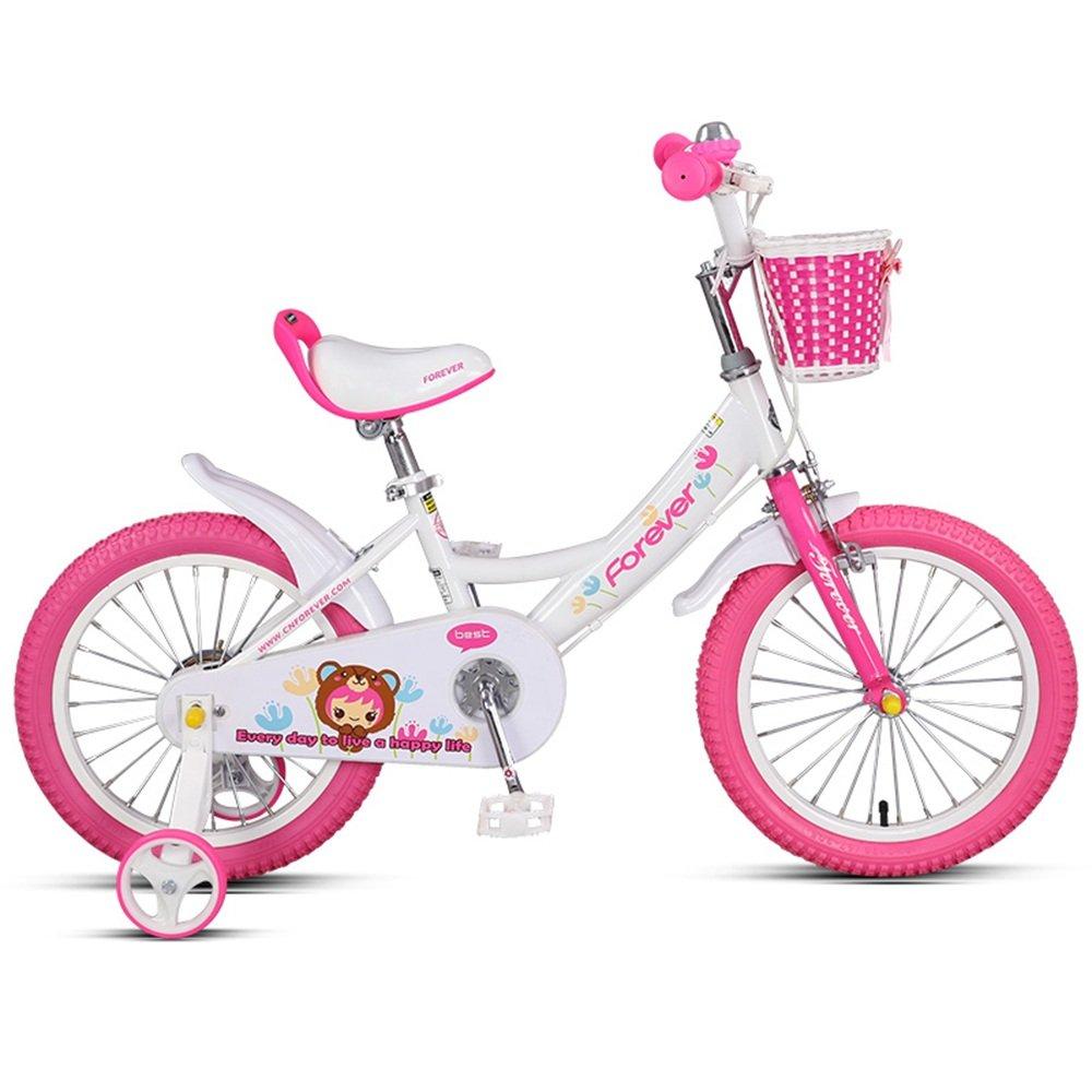 PJ 自転車 子供用自転車、14/16インチアルミ合金フレーム、男の子、女の子3-8歳のベビーカー 子供と幼児に適しています ( 色 : 白 , サイズ さいず : 16 inches ) B07CQWKWB1 16 inches|白 白 16 inches