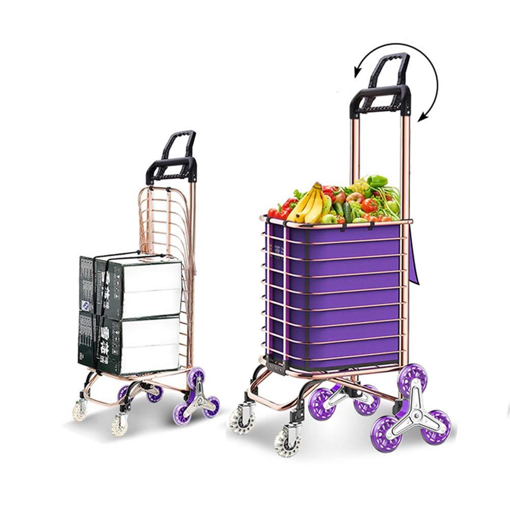 Bolsa Desmontable de Lona XYYZX Carritos de la Compra Plegables Carro de la Compra con Asiento y portavasos Ideal para Personas Mayores,Naranja
