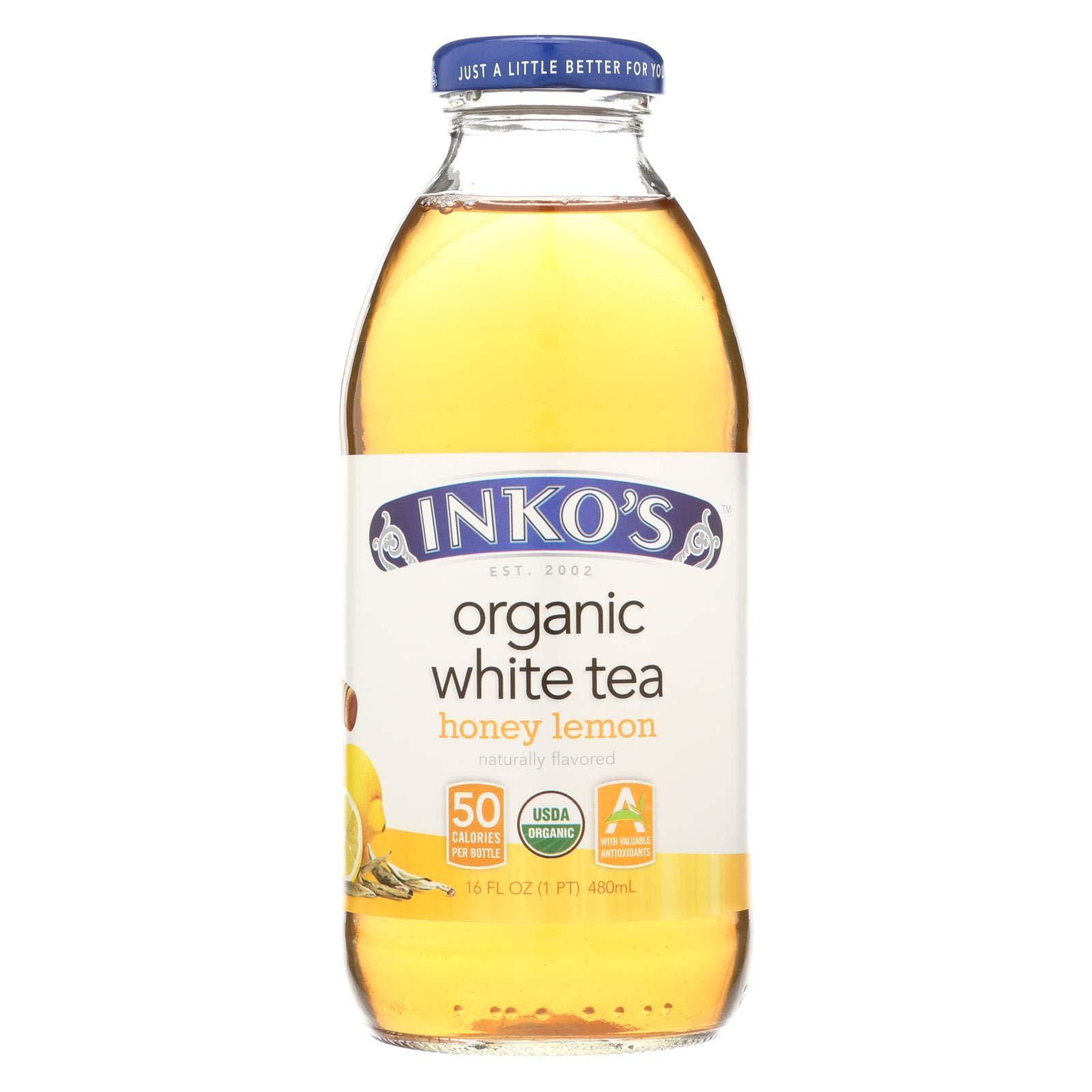 Inko's White Tea - Lemon - Case of 12-16 Fl oz.