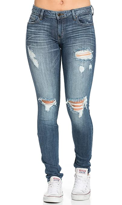 Low Rise Rock Skinny Jeans
