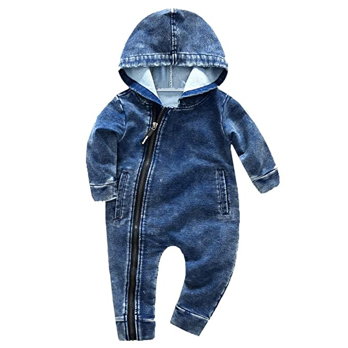 SHOBDW Boys Rompers Infant Baby Girls Fashion Camouflage Print Hooded Long Sleeve Party Jumpsuit Clothes Outfits