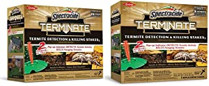 Spectracide Terminate Termite Detection & Killing Stakes2 (HG-96115) (15 ct) & Fill Stakes 5-Count Termite Killer (96116)
