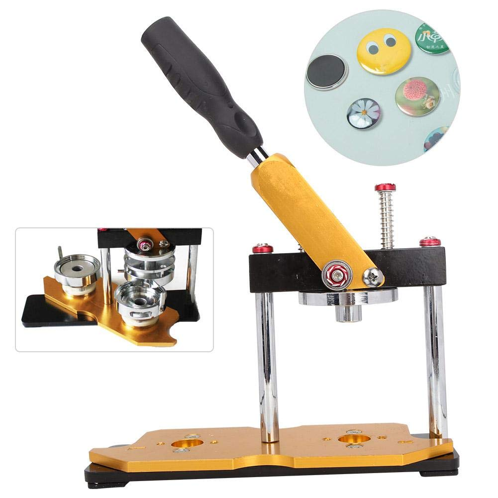 Badge Cutting Machine, Badge Machine Badge Cutter Durable DIY Button Maker Hand Pressing Tool with Handle Wrench by Jimfoty