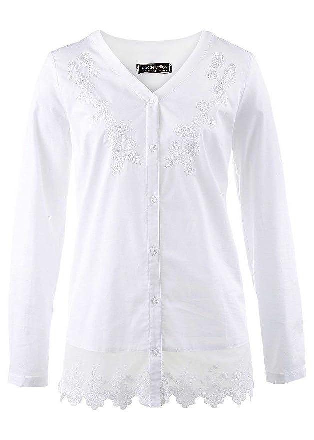 Top Bluse Tunika Tshirt Gr 40-42 Weiß NEU bpc selection