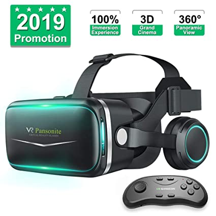 e844925c9168 Amazon.com  Pansonite Vr Headset with Remote Controller New Version ...
