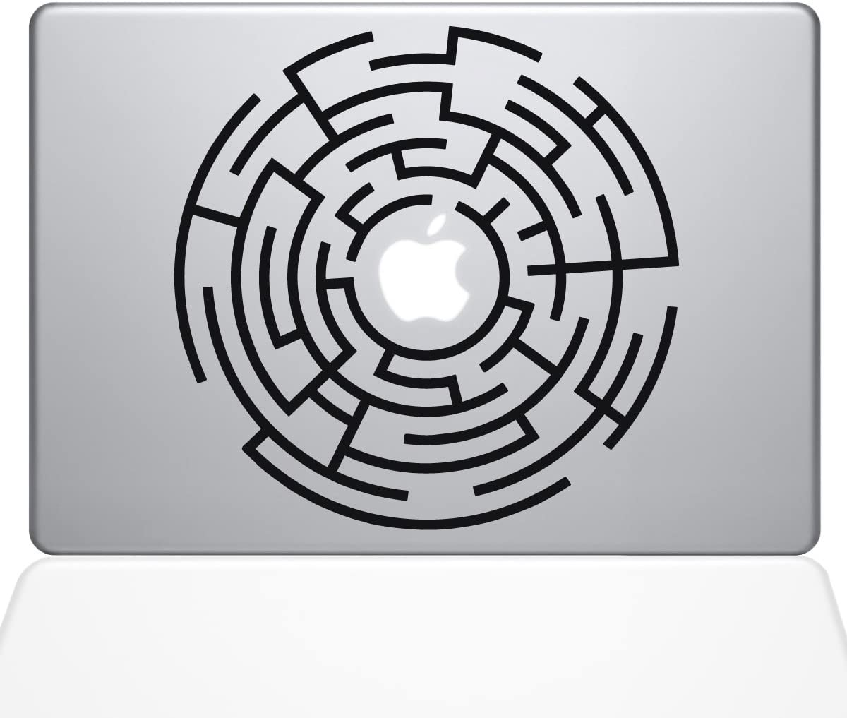 "The Decal Guru Circle Maze Runner MacBook Decal Vinyl Sticker - 13"" MacBook Pro (2015 & Older) - Black (1289-MAC-13P-BLA)"