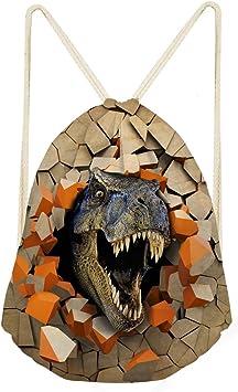 dise/ño de dinosaurios Mochila con cord/ón para deportes al aire libre Showudesigns