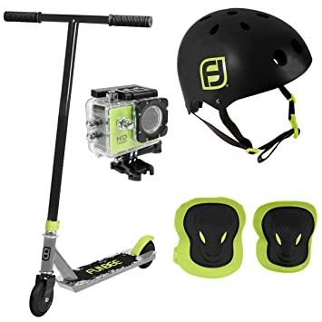 Funbee Niños Patinete y Casco, Kid: Amazon.es: Deportes y ...
