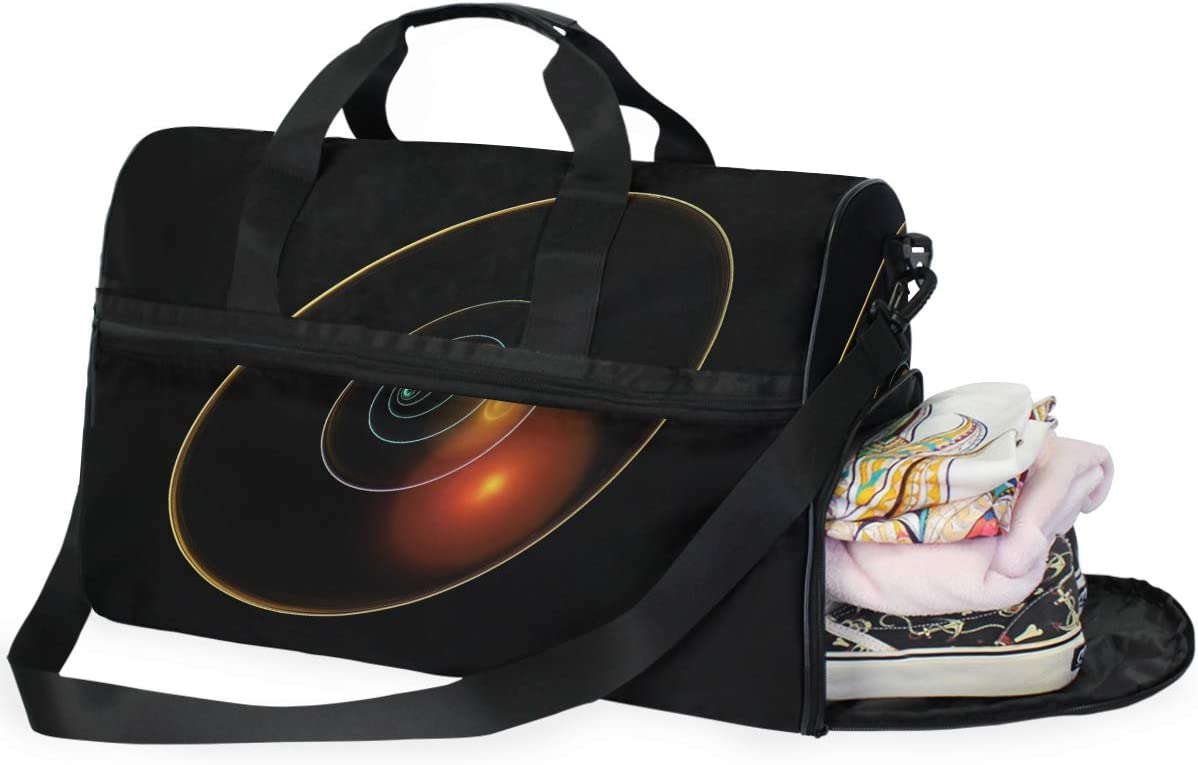 MUOOUM Cool Planet Solar System Large Duffle Bags Sports Gym Bag with Shoes Compartment for Men and Women