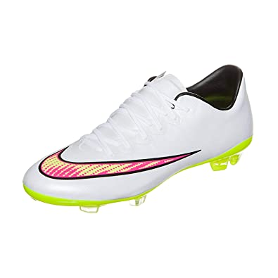 size 40 9508f d129d Amazon.com | Nike Junior Mercurial Vapor X FG (White) | Soccer