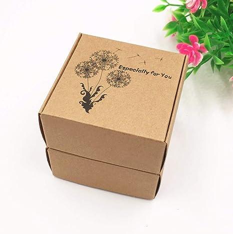 50 cajas de regalo de papel kraft para avión, hechas a mano, caja de embalaje de jabón, caja de papel para almacenar dulces y manualidades: Amazon.es: Juguetes y juegos