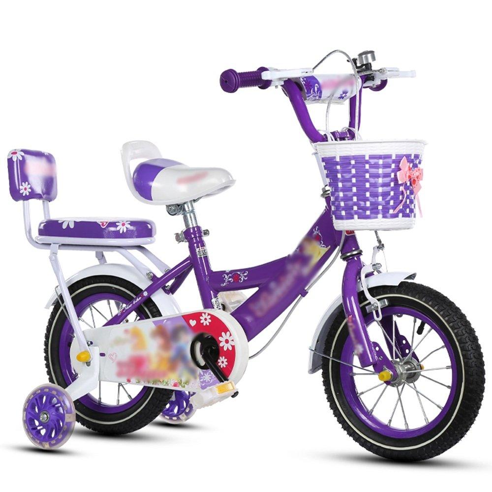 FEIFEI キッズバイク、サイズ12インチ、14インチ、16インチ、18インチピンク、ブルー、パープルセーフ、セキュア (色 : パープル ぱ゜ぷる, サイズ さいず : 18 inch) B07CRL142X 18 inch|パープル ぱ゜ぷる パープル ぱ゜ぷる 18 inch