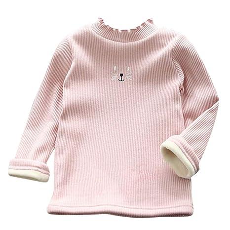 cdd45a807 Amazon.com  Cute Toddler Baby Kid Girls Cat Sweatershirt Blouse Long ...