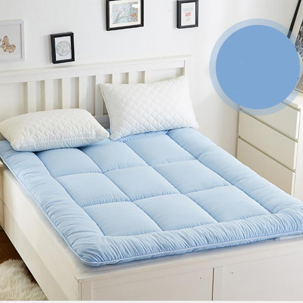 Thicken Plaid Mattress, Non-Slip fold Double Tatami Summer Mattress Cool pad for Dormitory -A 90x200cm(35x79inch) DWUIDHEWUHCFUYGV