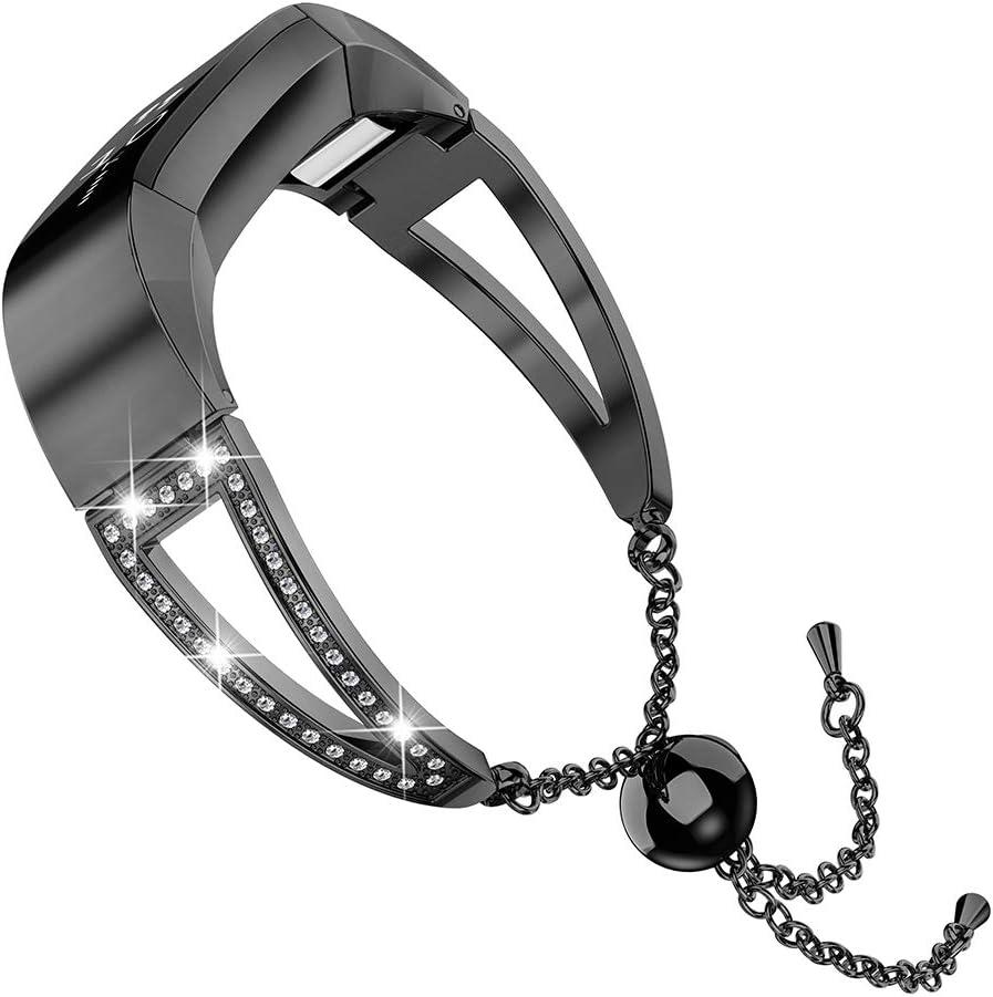 Wearlizer für Fitbit Alta HR und Alta Edelstahl Armband Band
