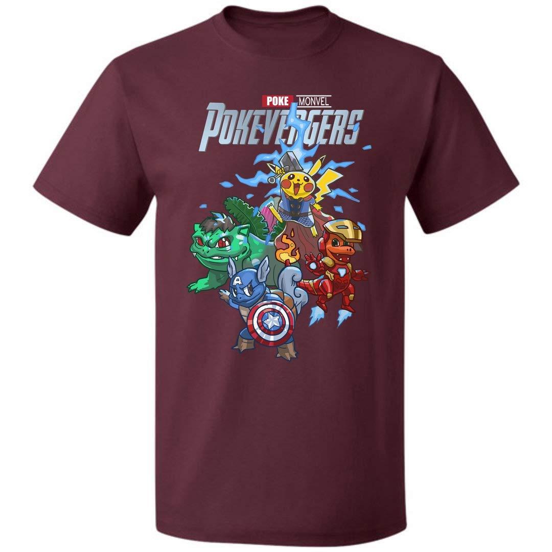 Pokevengers Funny Pokemon Avengers Unisex T Shirt For S Up To 5