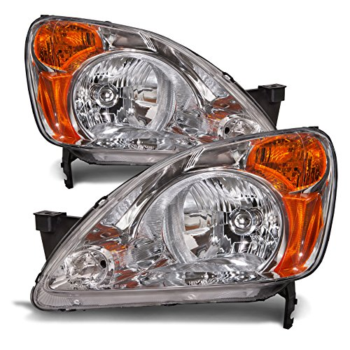 Honda CRV Headlights Headlamps Set New Pair