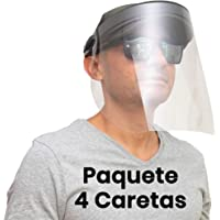 Lurko 4 Caretas Protectoras Virus Faciales (Negras) FACTURAMOS | Mascara Antivirus Policarbonato