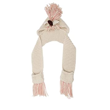 Amazon.com  BELUPAI Crochet Cartoon Unicorn Hat with Scarf Pocket ... 19cb105e5065