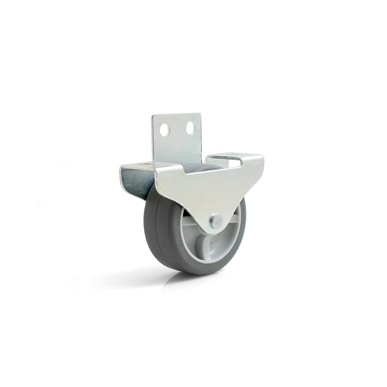 Design61 4x Kastenbockrolle Bettkastenrolle M/öbelrolle M/öbelrollen Seitlich anschraubbar Rolle 50x19 mm mit weicher Lauffl/äche