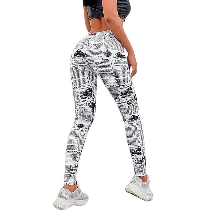 Berimaterry Mujer Pantalones Largos Deportivos Patrón de ...