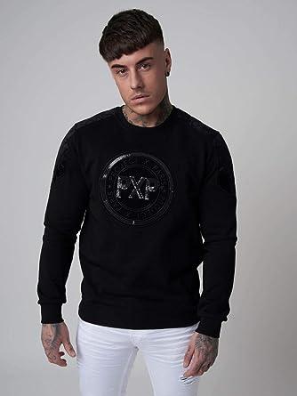 Project X Paris Sweat col Rond avec Patch PXP Brillant Homme