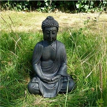Lovely SITTING BUDDHA SCULPTURE LOTUS Meditation Yoga Garden Decoration Budda From  XTRADEFACTORY