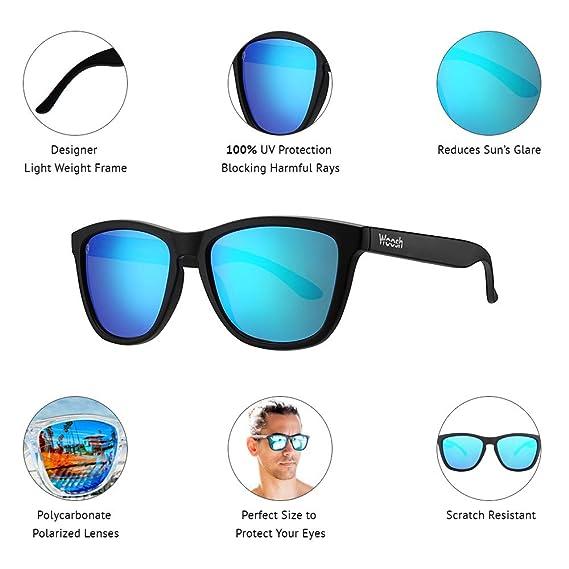 ef523b1add Amazon.com  Woosh Polarized Driving and Sports Unisex Sunglasses with Blue  Lens