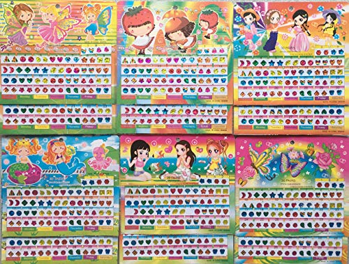 - SWARKOL 720 Pieces Sticker Earrings 3D Gems Sticker Princess Girls Stick on Earrings Self-Adhesive Glitter Stickers, Crystal Sparkle Stickers