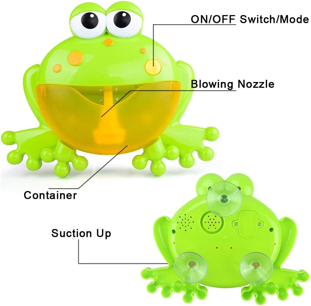 Baby Frogs Automatic Bubble Maker Blower Bubble Toys Music Bathtub Soap Machine