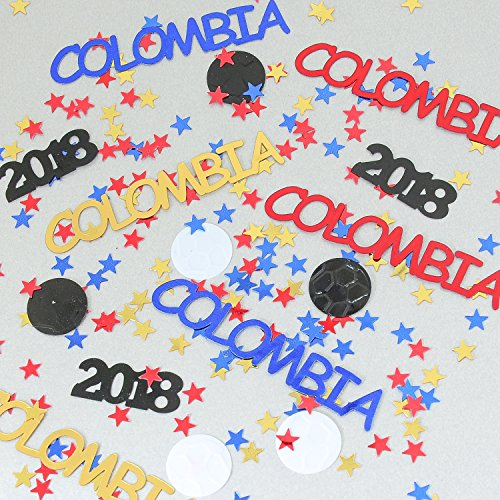Columbia World Cup Confetti 2018 Ball, Stars Blue Royal, Red, Gold - Pouched #6179 - Free Ship for $<!--$7.99-->