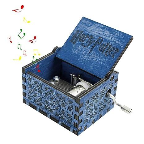 FOONEE Harry Potter Caja de música, Cajas de Madera Tallada a Mano, Caja de
