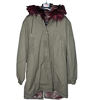 the latest a704e c41cb Canadian Women's Parka Coat, Detachable Fur Hood, Funny Bay ...