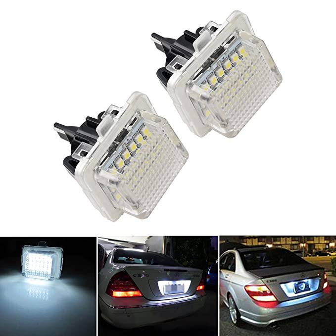 Led Auto Lights >> Senled 2pcs 3w Super Bright Car Led Number Plate Lamps For Mercedes Benz W204 5d W212 W216 W221 W207 18 Leds Auto Number Plate Lights For Benz B