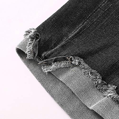 MSSHE Womens Plus Size Destroyed Ripped Hole Washed Short Jeans Pants Denim Shorts C1620132