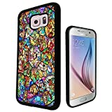*** All Characters Disney Stained Glass Design Fun Cool Samsung Galaxy S6 Edge Case Gel Rubber Silicone Cover