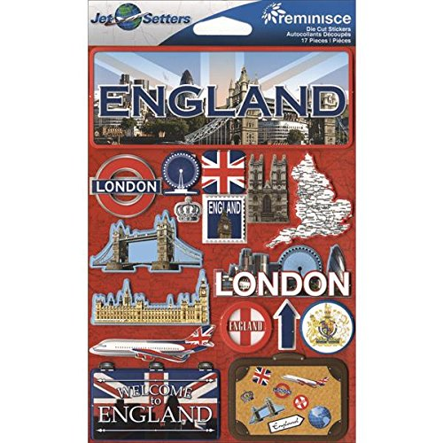 (Reminisce Jet Setters 3D Sticker. This package contains one 7.5 inch x 4.5 inch self-adhesive sticker sheet. Sold separately. Made in China.)