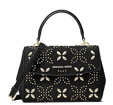 cb8ea7ad1afb Michael Kors Ava Extra-Small Floral Studded Crossbody: Amazon.co.uk ...
