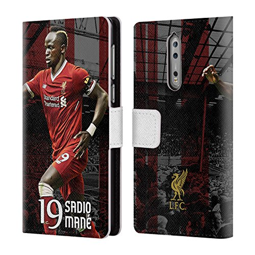 Official Liverpool Football Club Sadio Mané 2017/18 First Team Group 1 Leather Book Wallet Case Cover For Nokia 8
